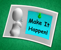 Make It Happen Photo Means Take Action Stock Photography