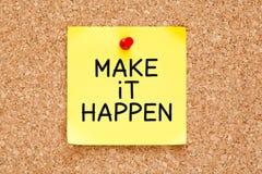 Make it Happen Sticky Note Royalty Free Stock Image
