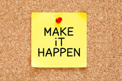 Make it Happen Sticky Note Royalty Free Stock Image