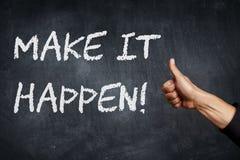 Make it happen stock image