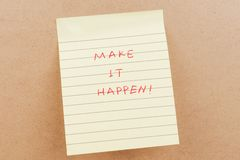 Make it happen words Stock Photo