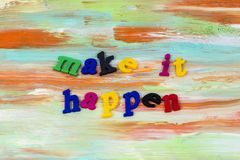 Make heute, geschehen harten Erfolgsplastik zu bearbeiten stockbild
