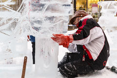 Make Ice  sculpture Royalty Free Stock Image