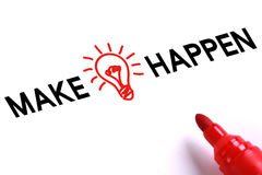 Make Idea Happen Royalty Free Stock Photo