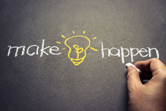 Make idea happen Stock Images