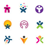 Make impact creating innovation for fulfillment of human potential logo icon Royalty Free Stock Photography
