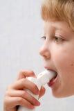Make inhalation Royalty Free Stock Image