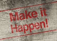 Free Make It Happen Royalty Free Stock Photography - 53144037