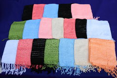 Scarf from the knitting wool Royalty Free Stock Photography