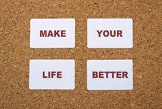 Make Life Better Stock Image