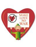 Make love no war Royalty Free Stock Image