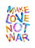 Make love not war. Triangular letters. Make love not war. Motivational inscription of triangular letters Stock Photography