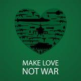 Make love not war poster Royalty Free Stock Photos