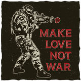 Make Love Not War Poster Royalty Free Stock Photography
