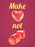 Make love not war Stock Images