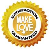 Make love valentine day label Stock Images