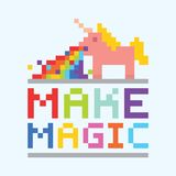 Make magic unicorn illustration Stock Image