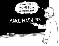 Make Math Fun. Education cartoon. Making math fun would be a breakthrough royalty free stock image