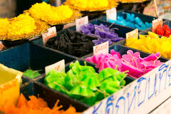 Make merit. To make merit Flower candle in many colors.background Stock Photography