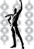 Make Money. High quality, high resolution, digitally painted illustration royalty free illustration