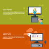 Make Money And Workflow Business Concept Royalty Free Stock Images