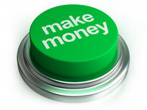 Make  money button. Make money button on white Royalty Free Stock Photography