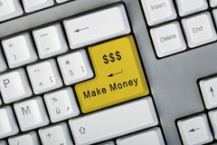 Make money button stock image