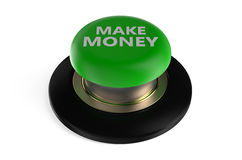 Make money button. Make money push button isolated on white background Royalty Free Stock Photos