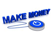 Make money button royalty free illustration