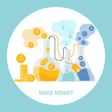 Make money concept Royalty Free Stock Image