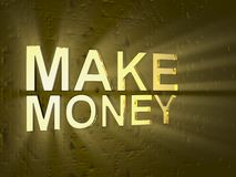 Make money. 3d make money with glow back Stock Image