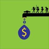 Make money for design. Figure make money Stock Photography
