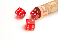 Make money with dice Royalty Free Stock Photos