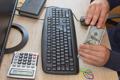 Make money earn cash app. Make money easy online Stock Photos