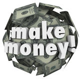 Make Money Earn Income Profit Revenue Currency Ball Royalty Free Stock Photo