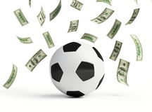 Make money on football Royalty Free Stock Photo