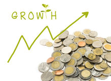 Make money growth Royalty Free Stock Image