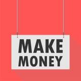 Make money Hanging Sign. Hanging Sign make money, vector icon Royalty Free Stock Photo