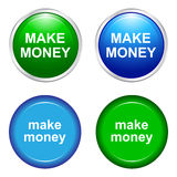 Make money. Illustration of make money buttons Royalty Free Stock Photography