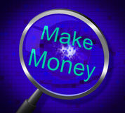 Make Money Indicates Earns Research And Wage Stock Images
