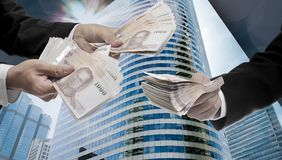Make money from investment in metropolis Stock Photos
