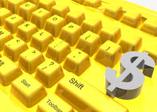 Make money keyboard symbol Stock Photos