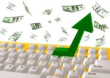 Make money keyboard symbol Stock Photos