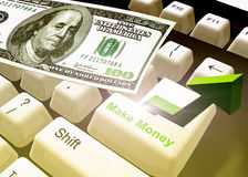 Make money keyboard symbol Stock Photography