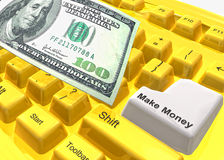 Make money keyboard symbol Royalty Free Stock Photo