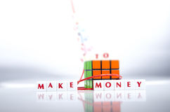 Make Money Letter Pieces Royalty Free Stock Image