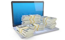 Make money on line. Stock Photos