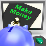 Make Money On Monitor Shows Investment Guide Royalty Free Stock Image
