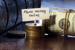 Make money online Royalty Free Stock Image