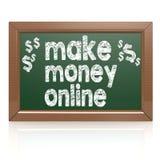 Make money online on a chalkboard Royalty Free Stock Image